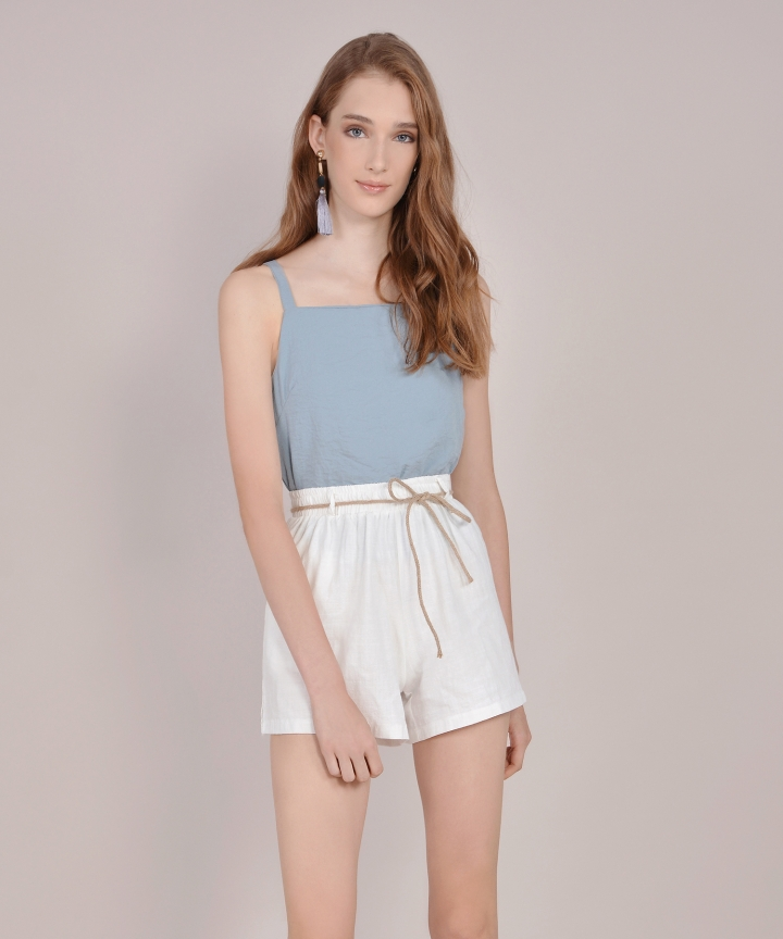 Hannah Basic Top - Mist Blue