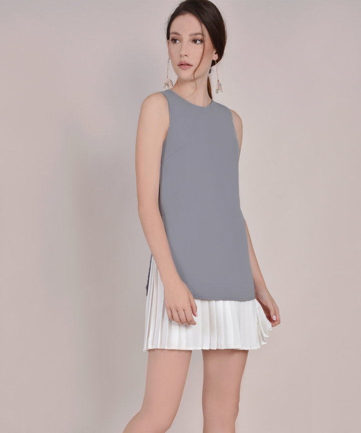 Capital Pleat Mini - Grey