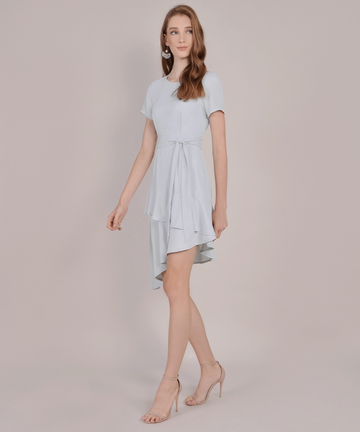 Memento Tiered Dress - Pale Grey