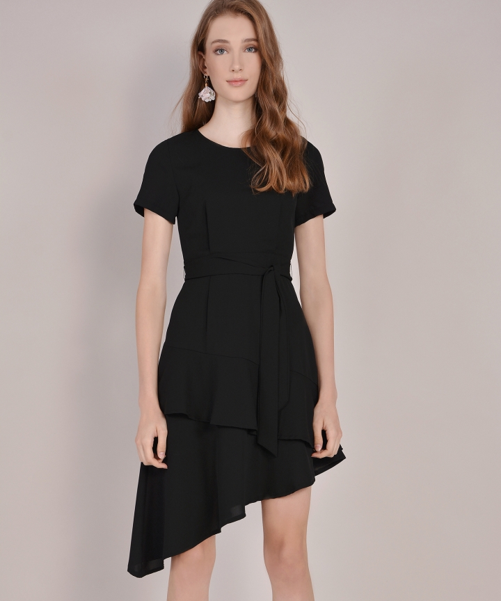 Memento Tiered Dress - Black