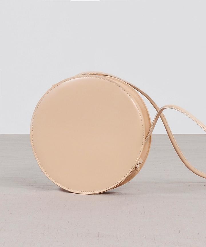Compact Circle Bag - Nude