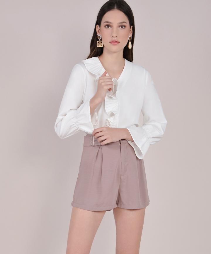 Mousse Ruffle Blouse - White
