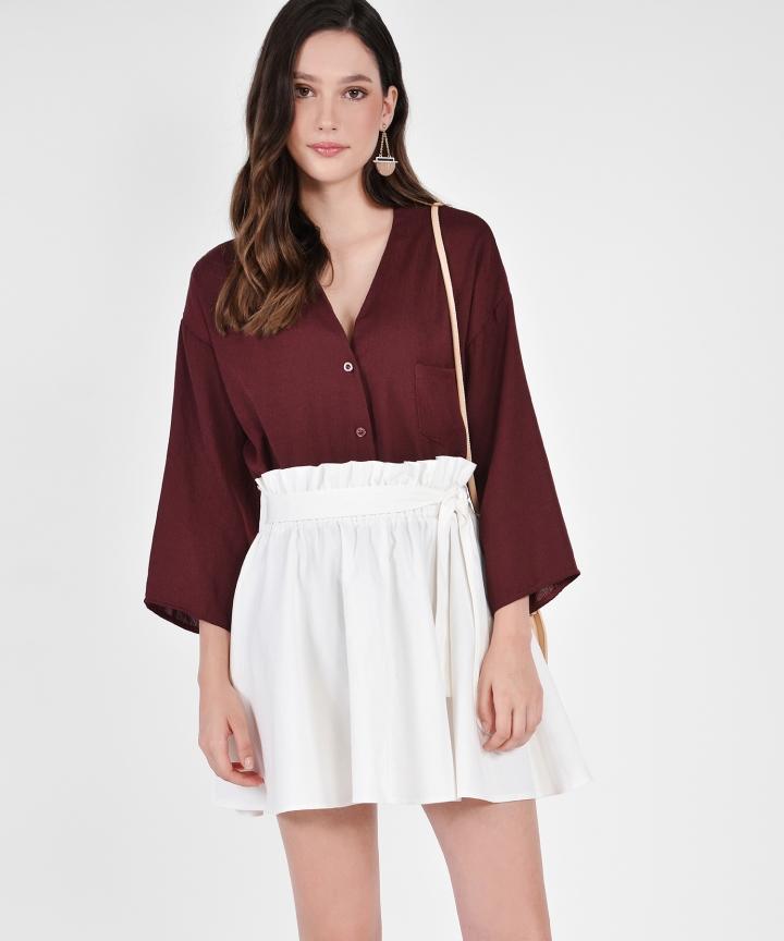 Leah Paperbag Skirt - White
