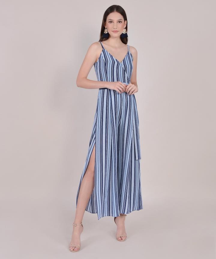 Rhonda Printed Jumpsuit - Blue