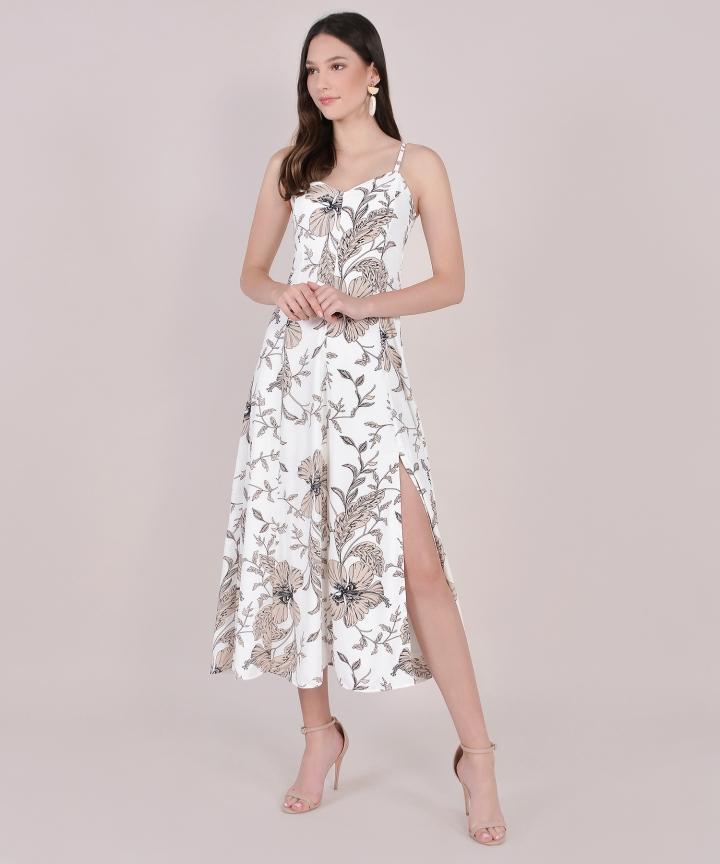 Tamara Floral Maxi - White