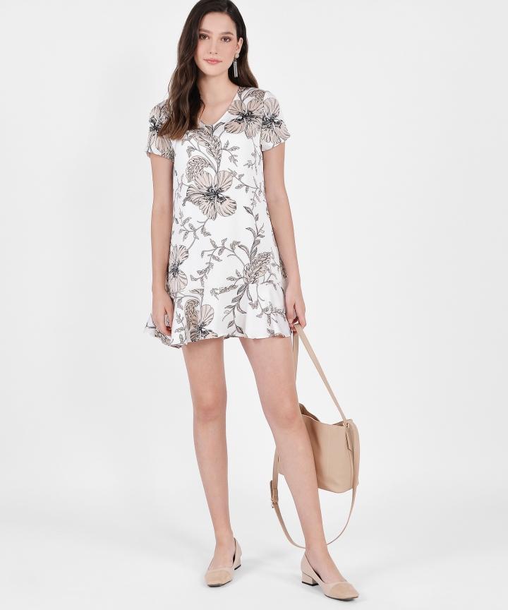 Tamara Floral Mini - White