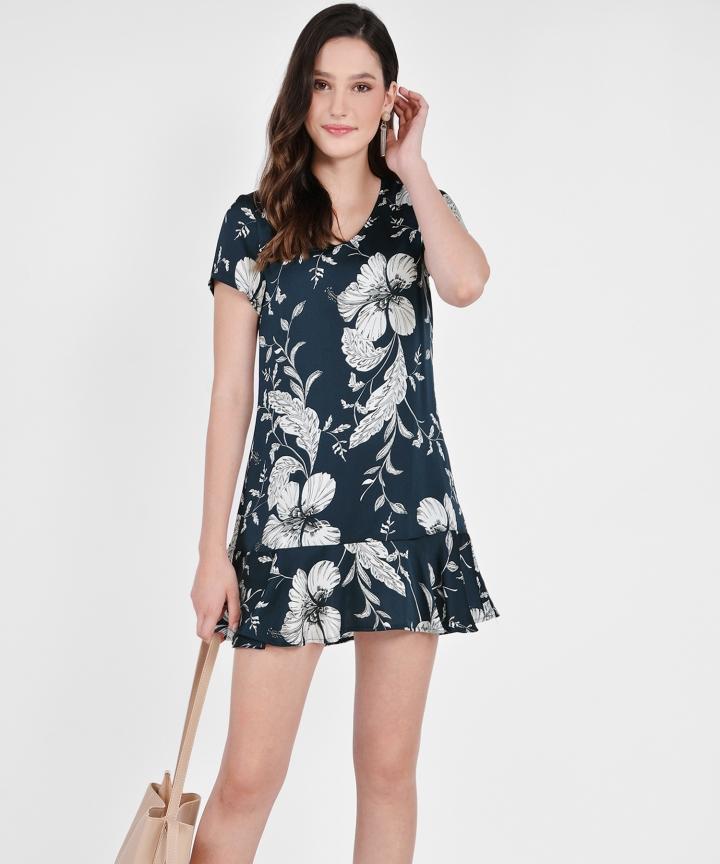 Tamara Floral Mini - Navy