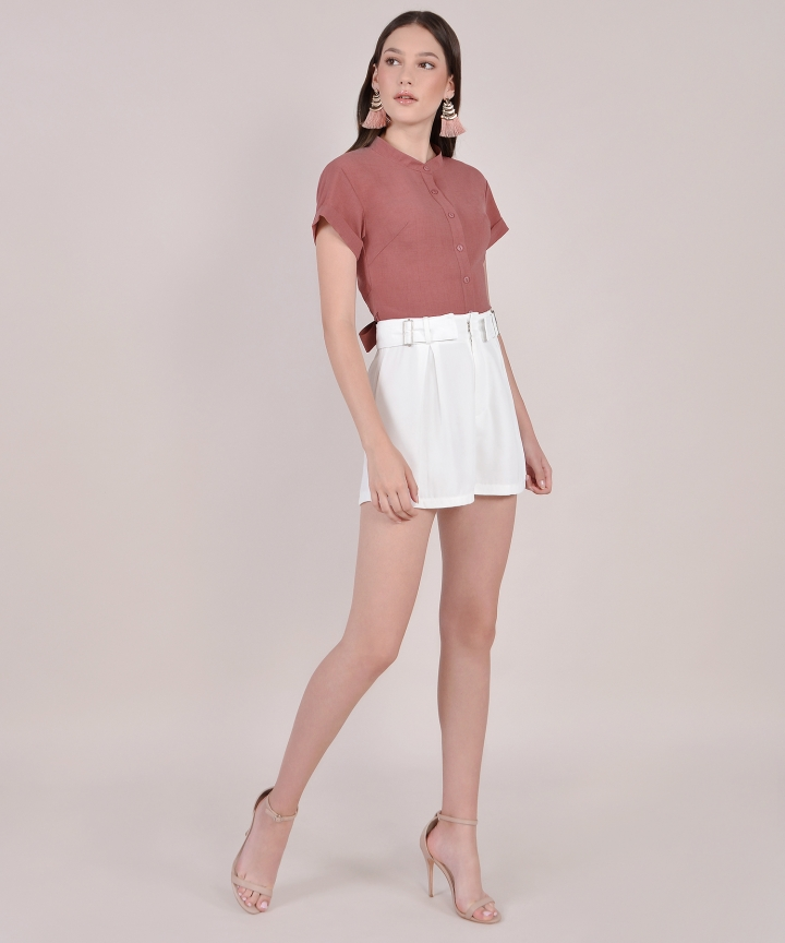 Sabine Cropped Top - Redwood