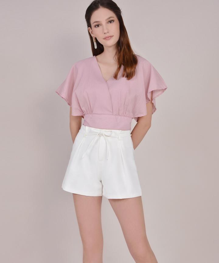 Zadie Tailored Shorts - White (Restock)