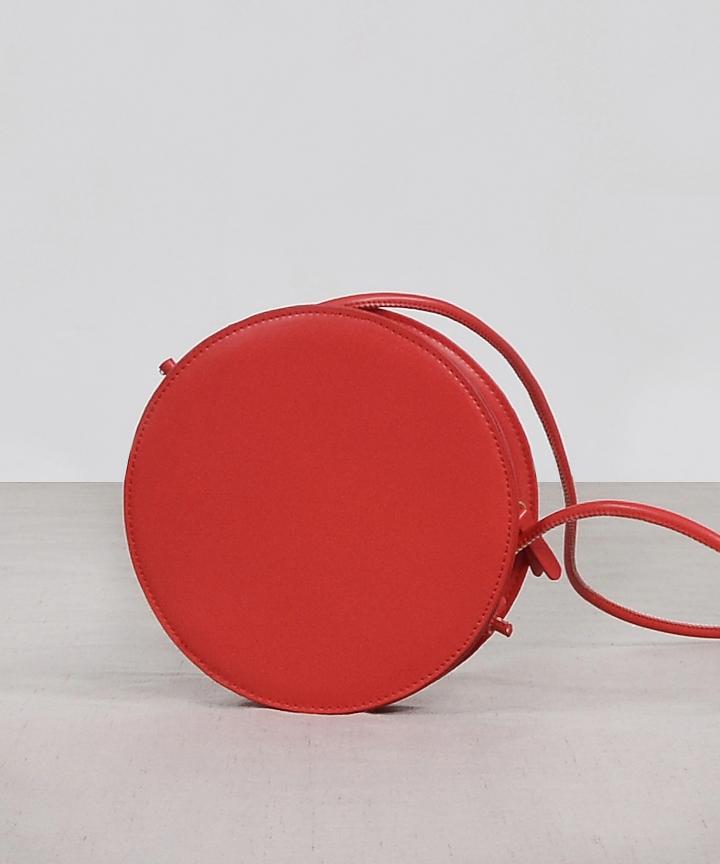 Compact Circle Bag - Red