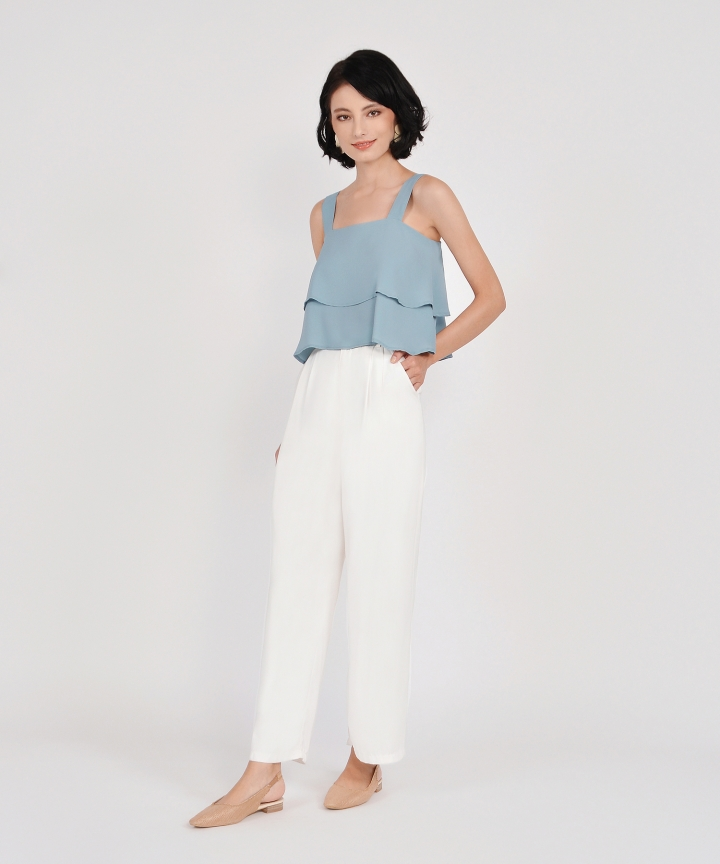 Gwyneth Tiered Top - Mist Blue
