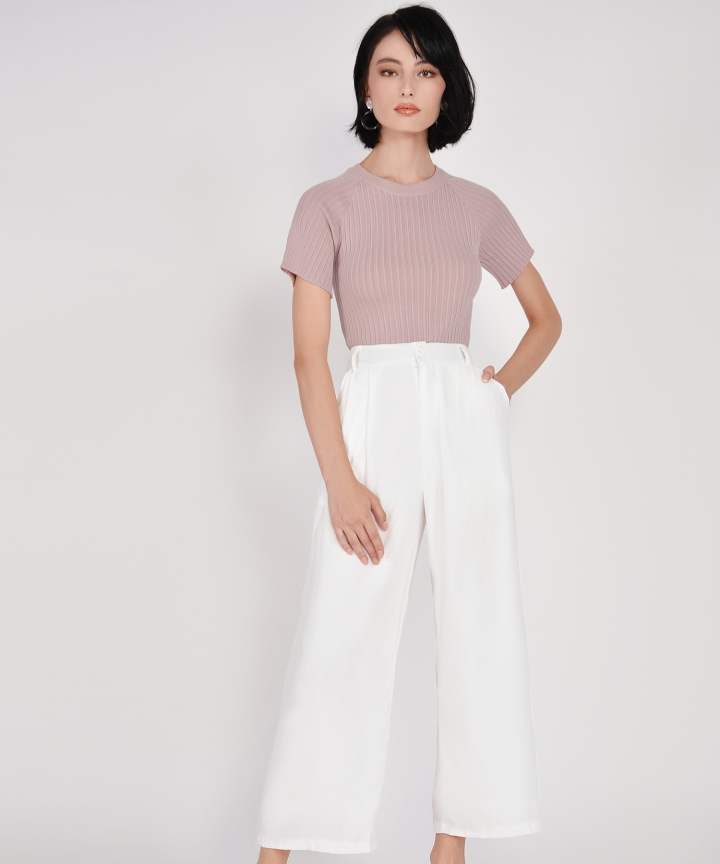 Salon Knit Top - Dust Pink