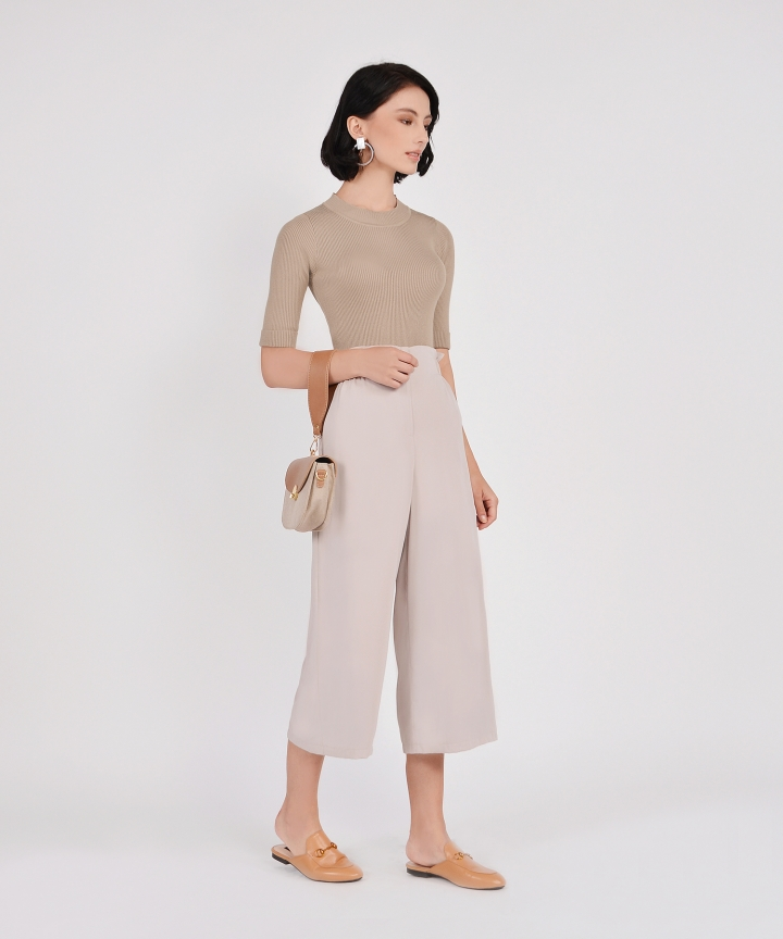 Cleo Culottes - Pebble Grey