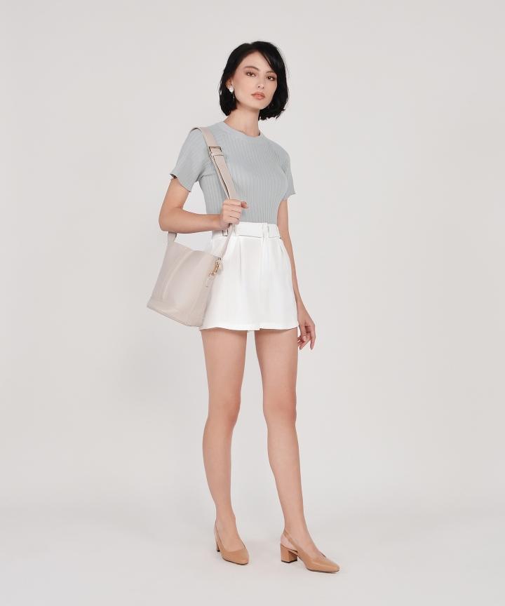 Viola Buckle Shorts - White