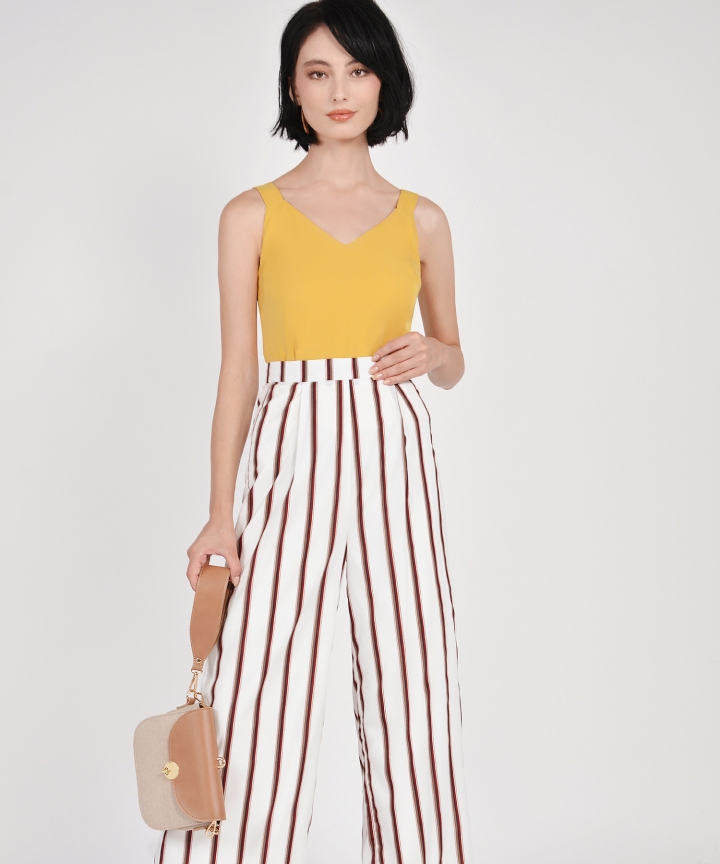 Marcello Striped Trousers - White