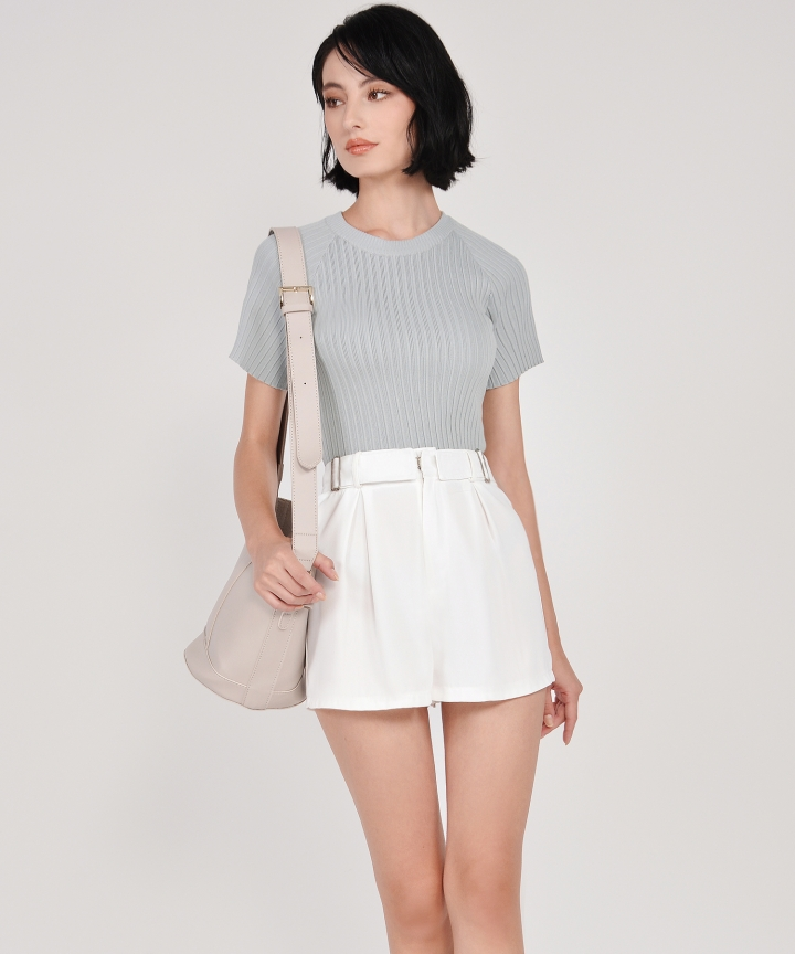 Salon Knit Top - Pale Grey