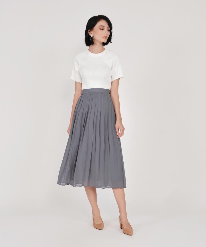 Anita Pleated Midi Skirt