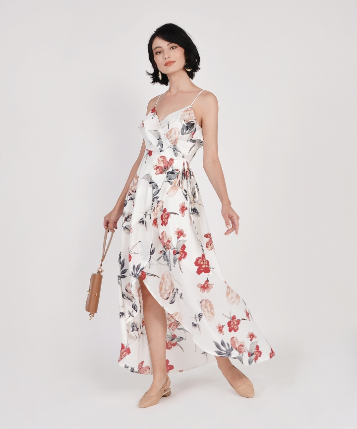 Kimora Floral Overlay Maxi - White (Backorder)