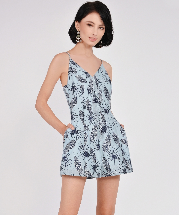 Geneva Organza Playsuit - Pale Blue