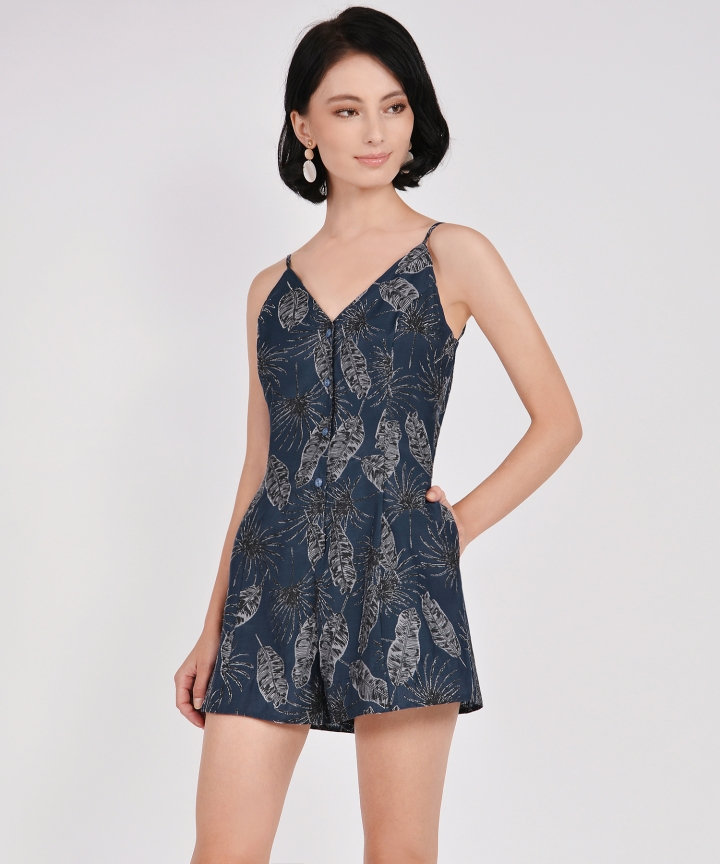 Geneva Organza Playsuit - Midnight Blue