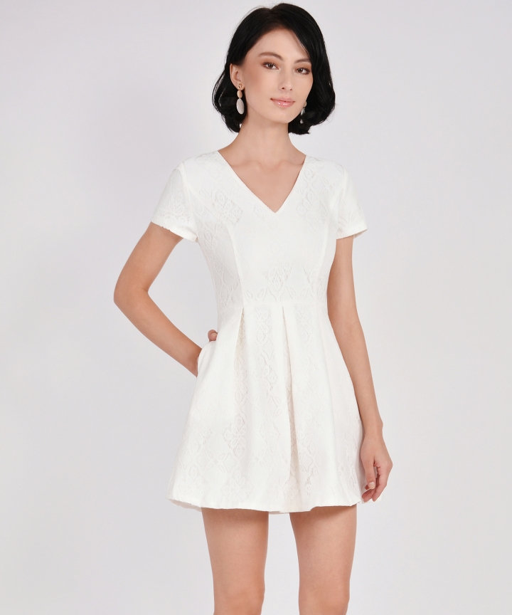 Carousel Lace Dress - White