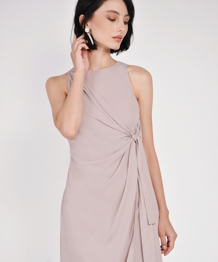 Estelle Knot Midi - Mauve Grey