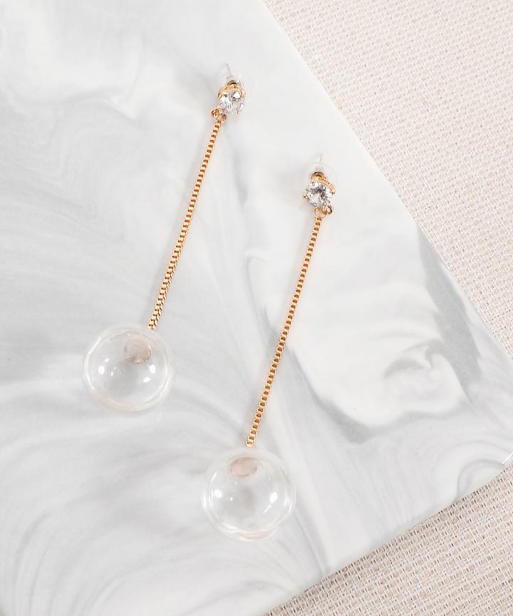 Crystal Liquid Drop Earrings