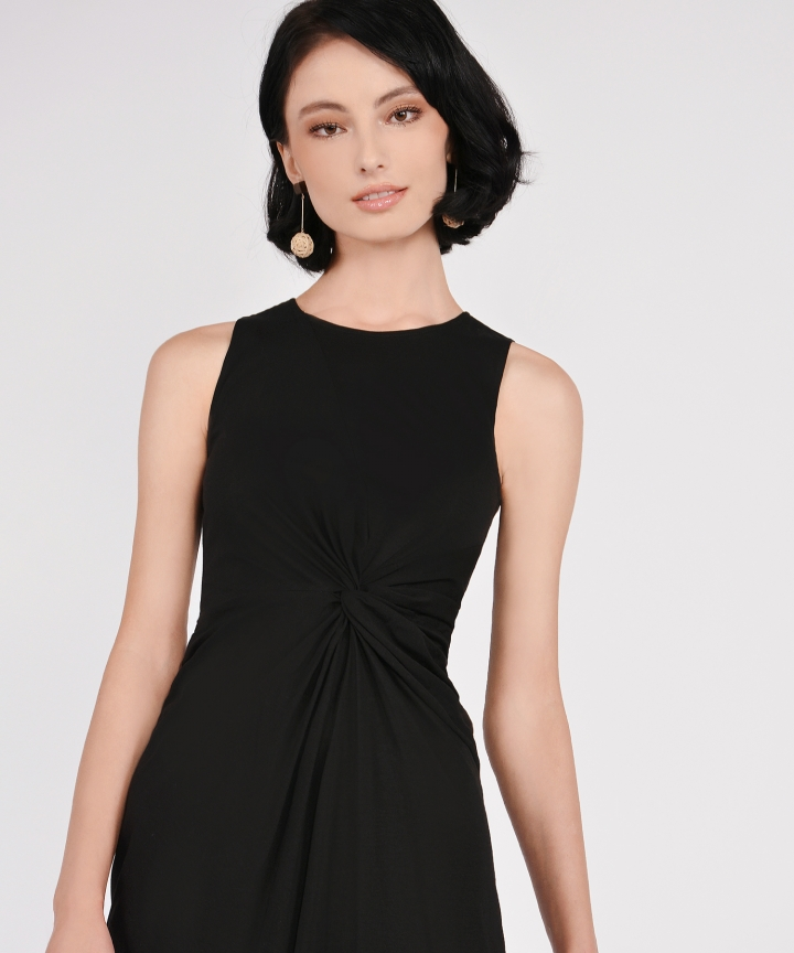 Lena Knotted Dress - Black