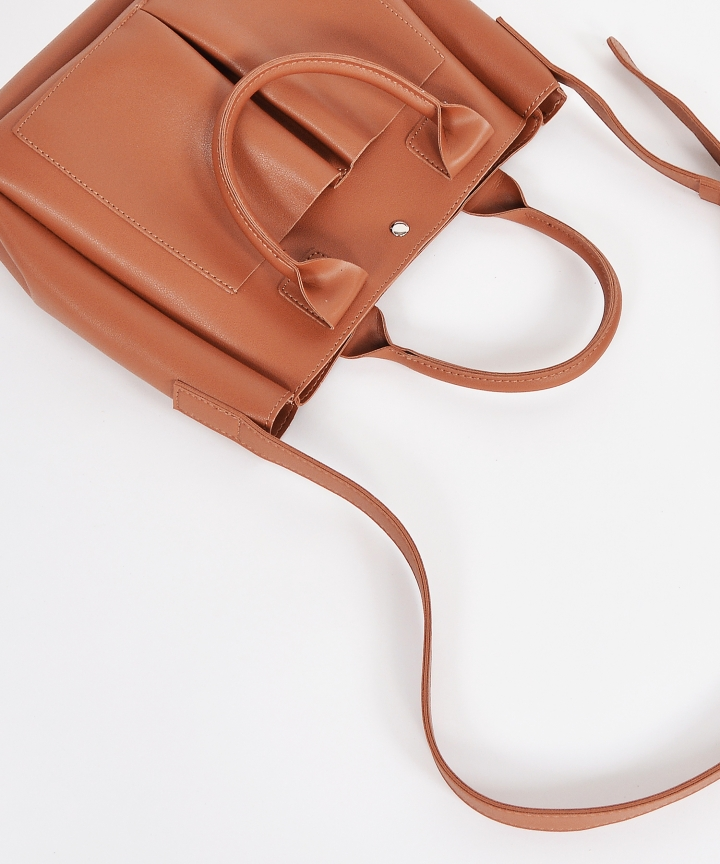 Audrey Convertible Handbag - Brown