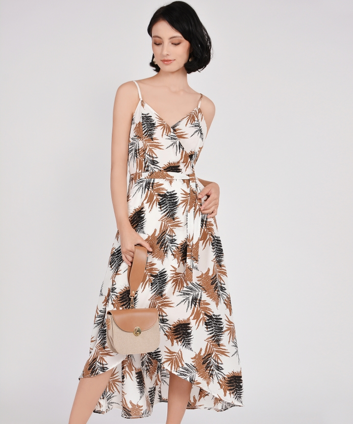 Elm Asymmetrical Dress - White