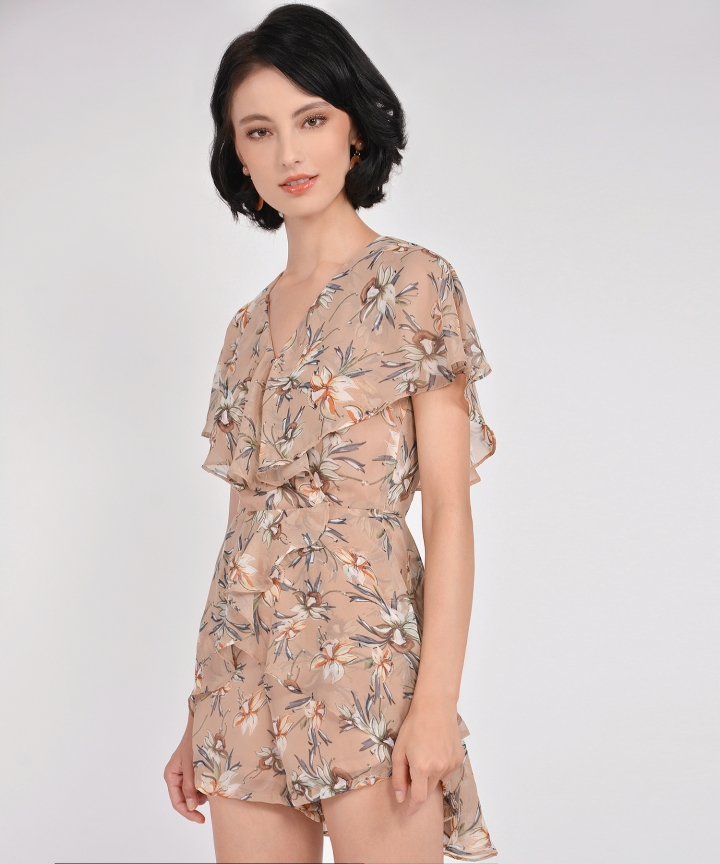 Arwen Overlay Playsuit - Blush