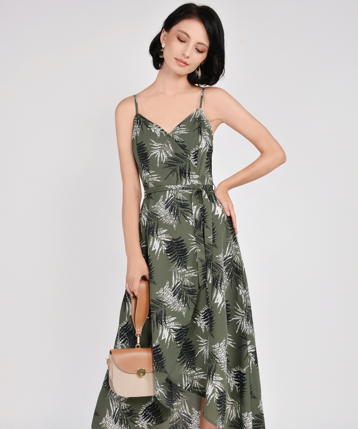 Elm Asymmetrical Dress - Olive