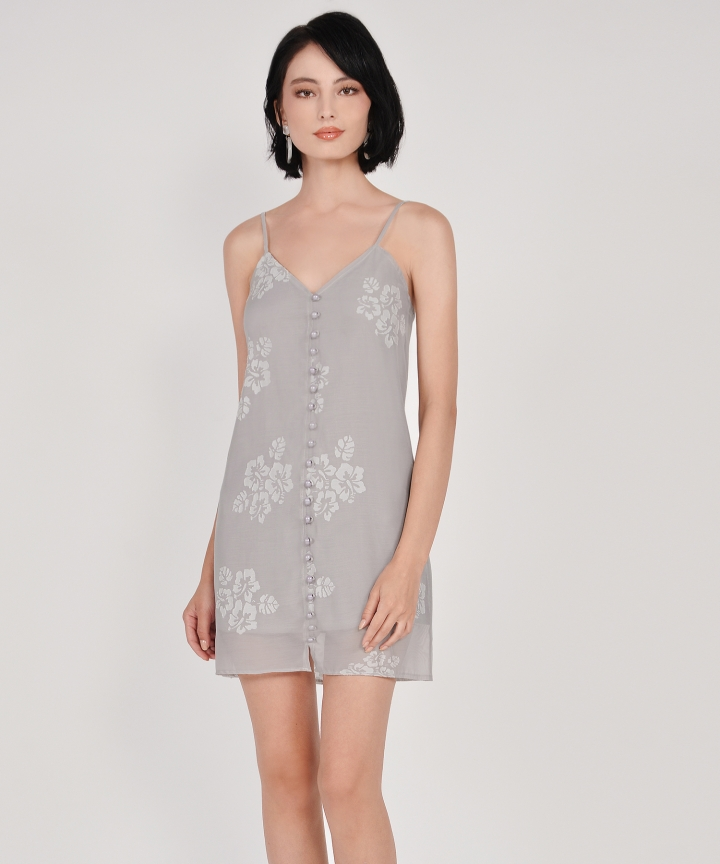 Nightingale Organza Dress - Pale Grey