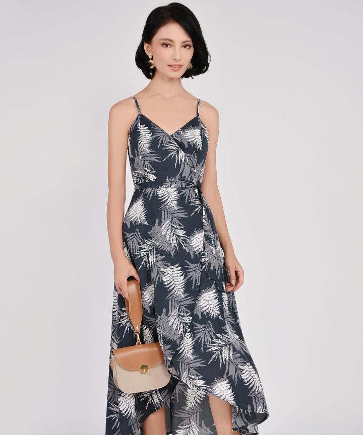 Elm Asymmetrical Dress - Storm Grey