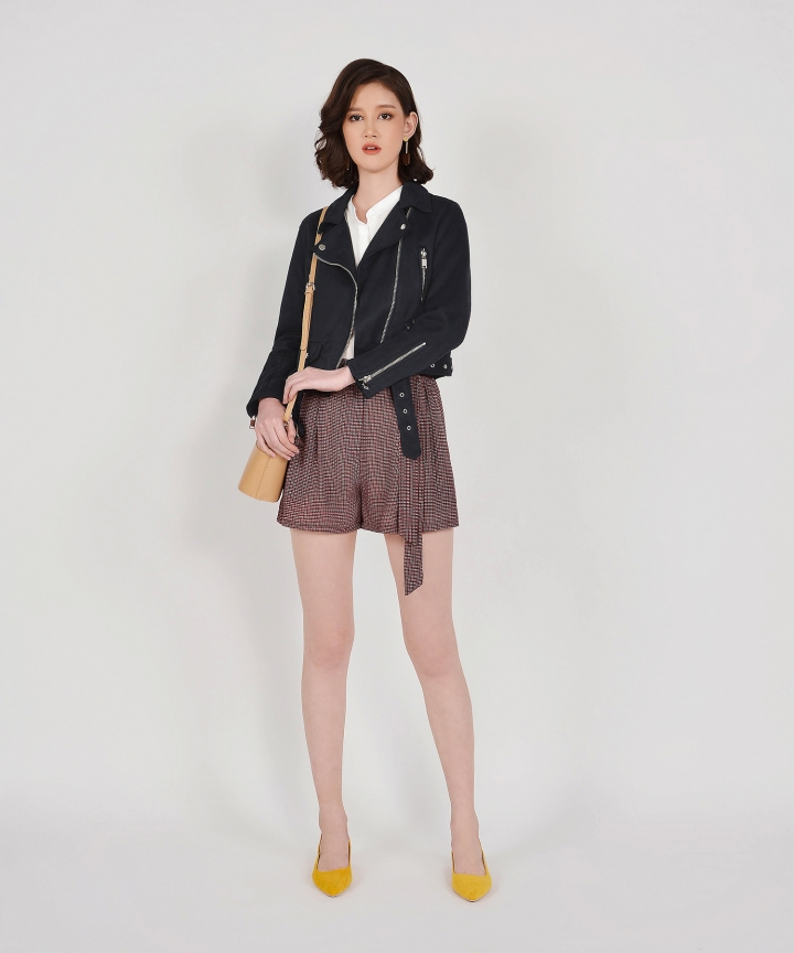 Jonquil Suede Jacket - Navy