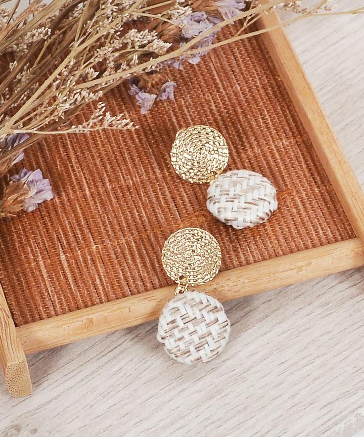 Fiora Tweed Earrings