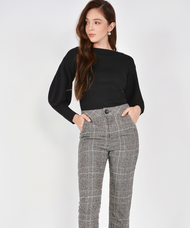 Ollie Checkered Cropped Pants