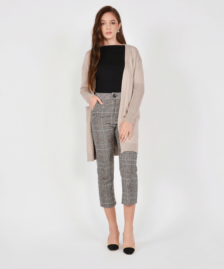 Marylou Drape Cardigan - Grey (Backorder)