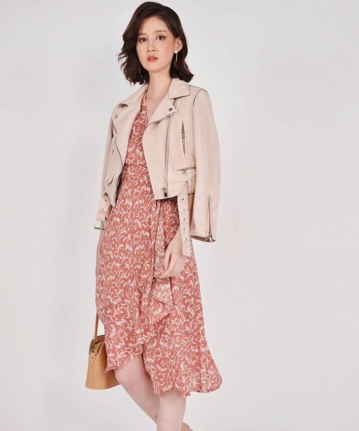Jonquil Suede Jacket - Pale Sand