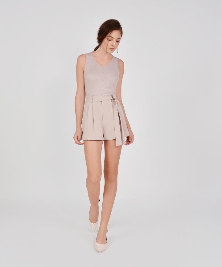 Tori Sparkly Knit Top - Pale Mauve