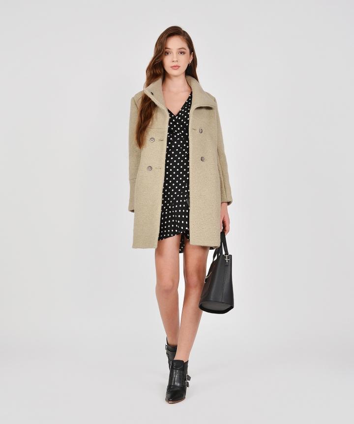 Aurora Classic Wool Coat - Dust Olive