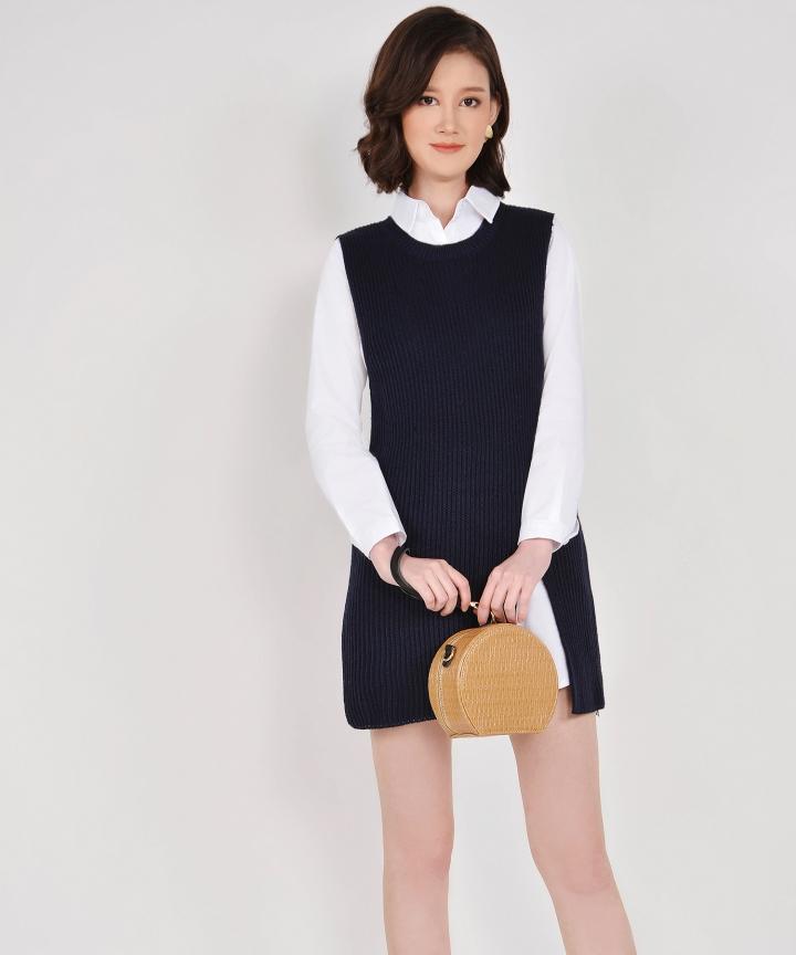 Cassidy Knit Vest - Midnight Blue