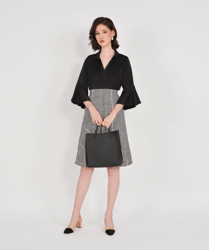 Rue Checkered Midi Skirt