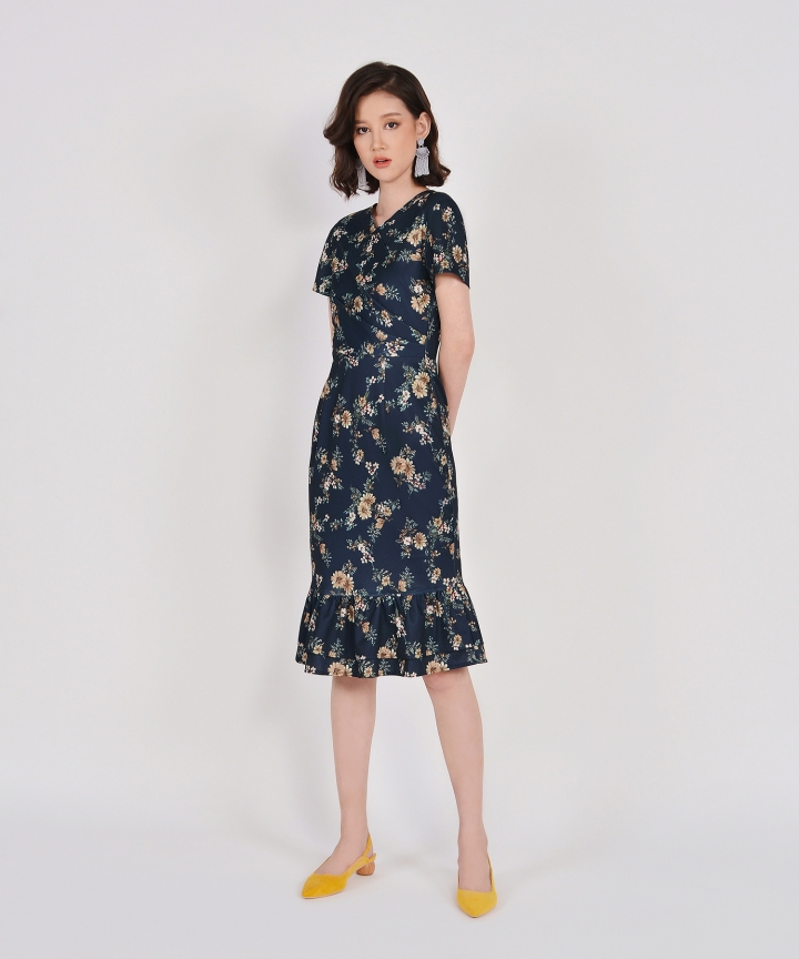 Cabot Floral Ruffle Midi