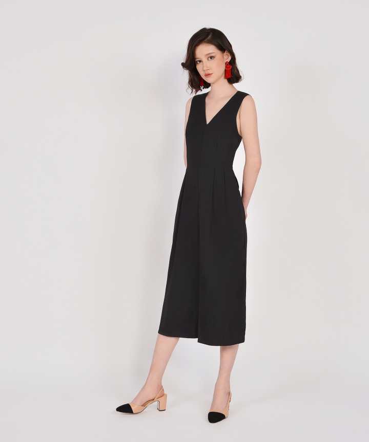 Dorothy V-Neck Jumpsuit - Black