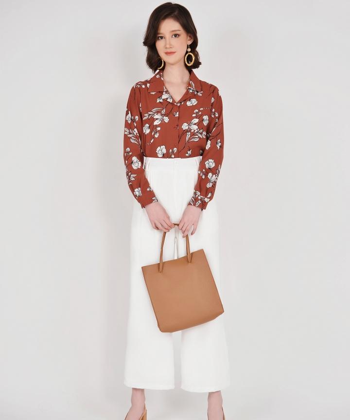 Quincy Convertible Handbag - Brown