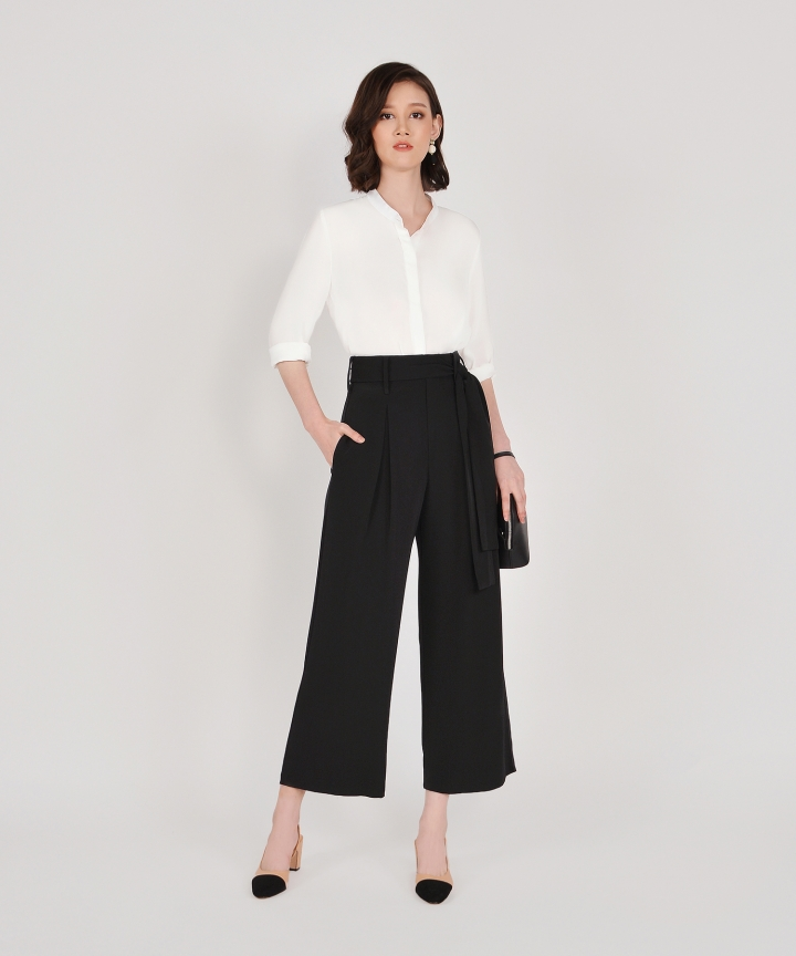 Bronwyn High Waisted Trousers - Black