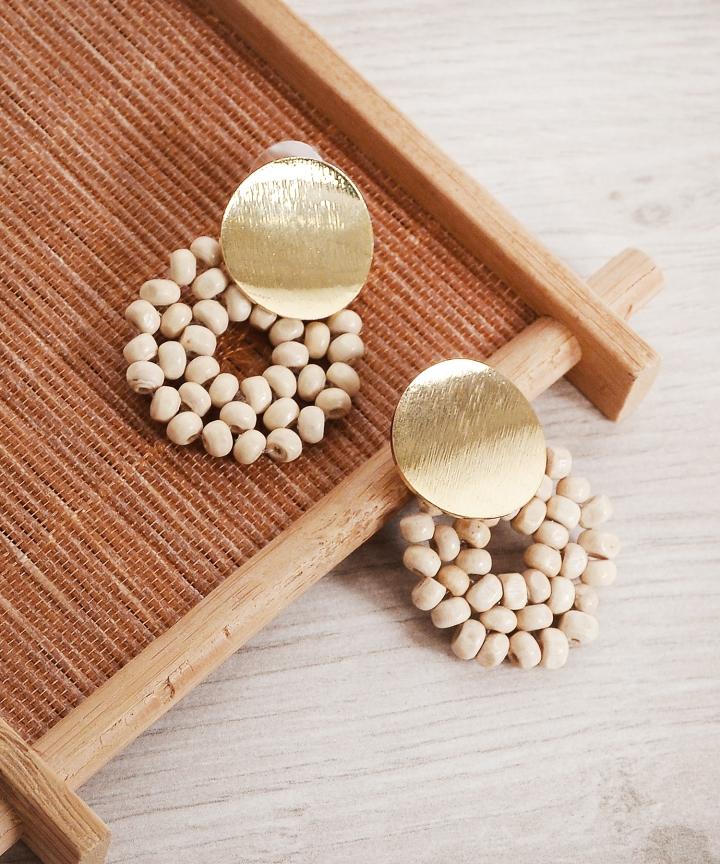 Jubilee Earrings - Cream