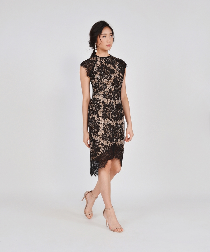 Ethereal Lace Midi - Black (Backorder)