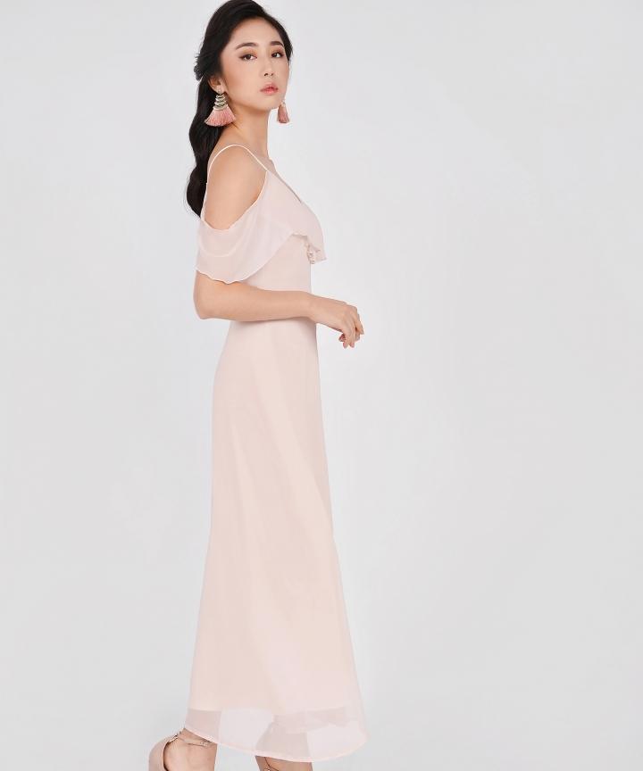 HVV Atelier Destiny Off-Shoulder Maxi - Pale Pink